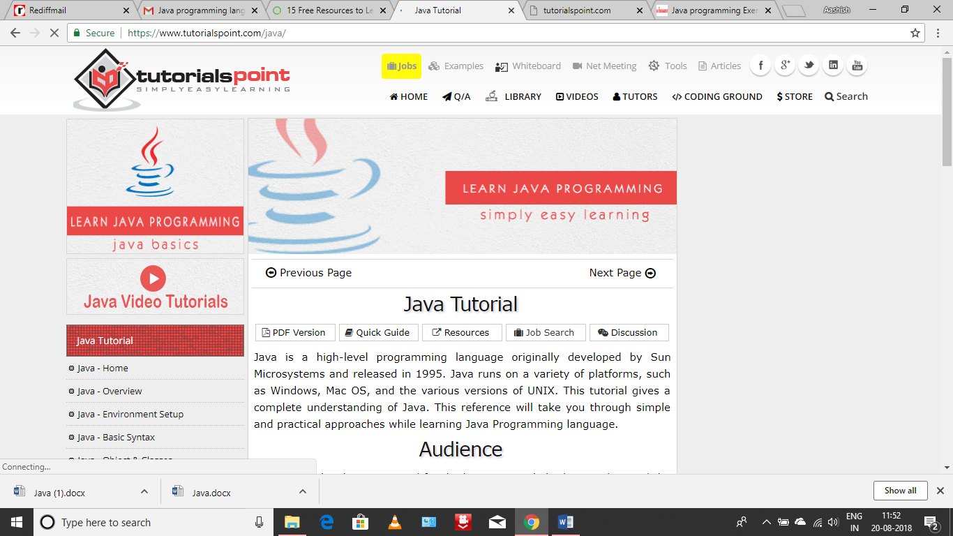 Learn Java: Tutorials for Beginners, Intermediate, and Advanced
