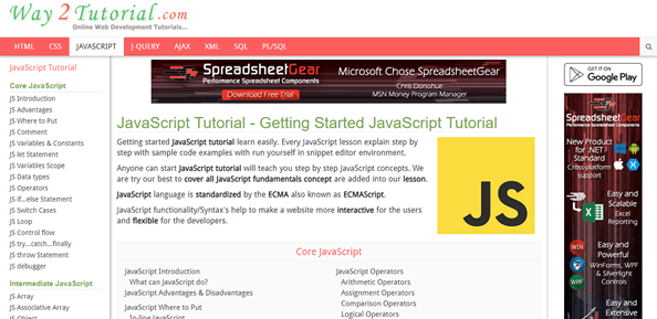 Learn JavaScript: Tutorials for Beginners, Intermediate and