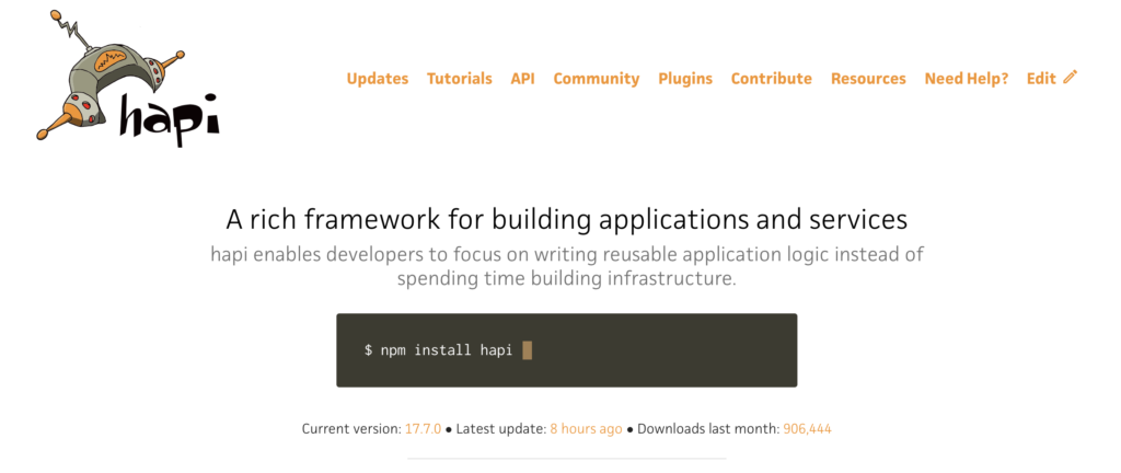 Hapi.js Node.js Framework