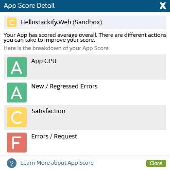 Retrace App Score Detail