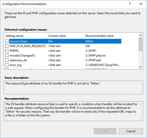IIS PHP Configuration