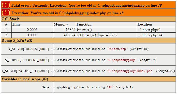 PHP Debugging Xdebug