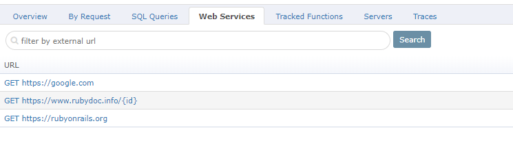 Retrace web services
