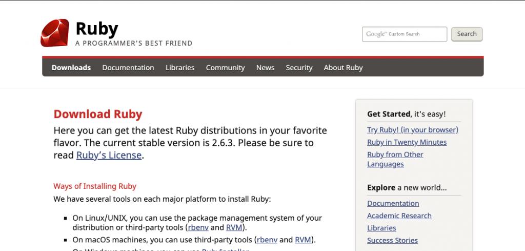 install ruby using rvm mac