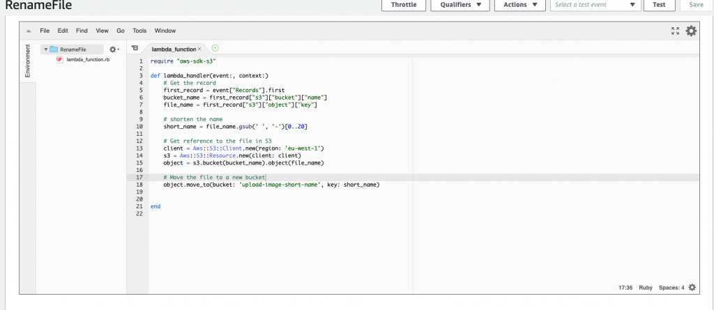 Lambda Function Ruby