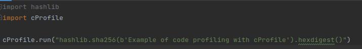 Python code optimization